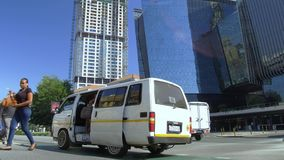 Mini bus taxi in Johannesburg. stock video footage