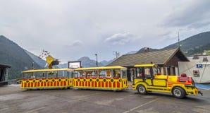 Mini bus transportation in Chatel France Stock Image