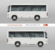 Mini Bus Vector Template Illustration de Vecteur