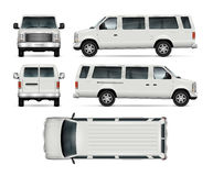 Mini Bus Vector Template Arkivbild