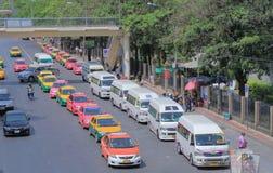 Mini- buss för Thailand taxi Royaltyfri Bild