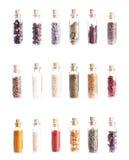 Mini butelki z pikantność Obrazy Royalty Free
