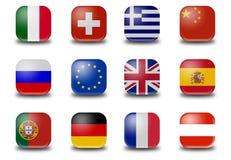 Mini-Button World Flags Stock Image