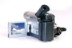Mini cámara de DV con el camino de recortes Imágenes de archivo libres de regalías