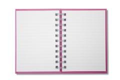 Mini caderno da página em branco Imagem de Stock Royalty Free