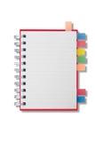 Mini caderno longo da forma da página em branco Imagem de Stock Royalty Free
