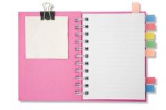 Mini caderno longo da forma da página em branco Imagens de Stock