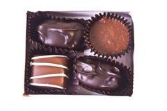 Mini cadre de cadeau de chocolats de fantaisie Images libres de droits