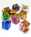 Mini caixas de presente - 1 Fotografia de Stock Royalty Free