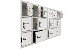 Mini - cajas fuertes para el almacenamiento del dinero y de los documentos Imágenes de archivo libres de regalías