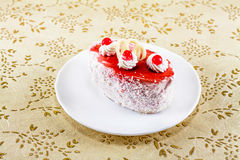 Mini cake with cream Royalty Free Stock Photos