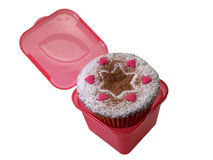 Mini cake. In a plastic box Royalty Free Stock Images