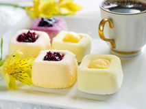 Mini cakes royalty free stock images