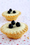 Mini cakes with berries Royalty Free Stock Image