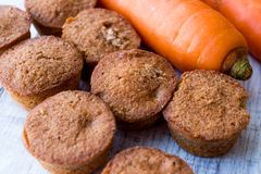 Mini Cakes with Carrot and Cinnamon. Royalty Free Stock Image