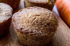 Mini Cakes with Carrot and Cinnamon. Stock Photos