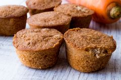 Mini Cakes with Carrot and Cinnamon. Stock Photo