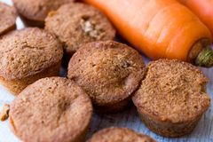 Mini Cakes with Carrot and Cinnamon. Stock Images