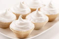 Mini cakes with cream cheese royalty free stock image