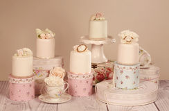 Mini cakes with icing Royalty Free Stock Image