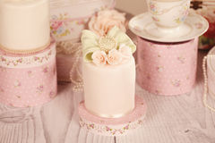 Mini cakes with icing Stock Photo