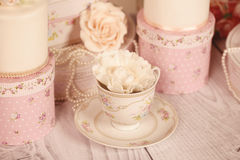 Mini cakes with icing Royalty Free Stock Images