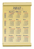 Mini Calendar USA Royalty Free Stock Photos