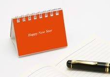 Mini calendario da tavolino Fotografia Stock