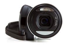 Mini camcorder die op wit wordt geïsoleerde stock foto