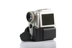 Mini camcorder with with monitor flip out Royalty Free Stock Images
