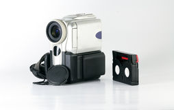 Mini camcorder with tape Stock Image