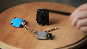 Mini camera and video transmitter installation