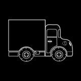 Mini caminhão para o transporte de cargas pequenas Fotos de Stock