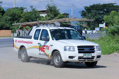 Mini camion de nous société de TV Images libres de droits