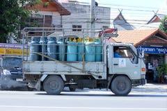 Mini camion del gas di gas unico Fotografie Stock