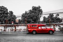 Mini camion rosso Fotografia Stock