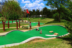 Mini campo de golfe Fotos de Stock