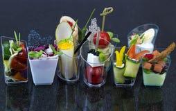 Mini canap com elementos da cozinha molecular fotografia de stock royalty free