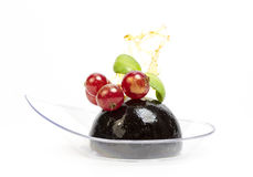 Mini canap with elements of molecular kitchen Royalty Free Stock Images