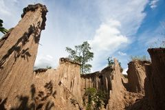 Mini Canyon in Thailand Royalty Free Stock Image