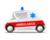 Mini car cartoon ambulance Stock Photos