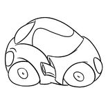 Mini car contour illustration Royalty Free Stock Photo