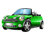 Mini Car. A funny cartoon version of Mini car design Royalty Free Stock Image