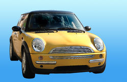Mini car isolated Stock Photos