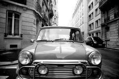 Mini car park in street stock images