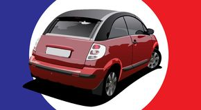 Mini car vector Stock Image
