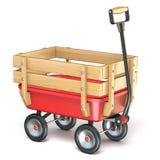 Mini carro del juguete con la cerca lateral de madera Isometric 3D stock de ilustración