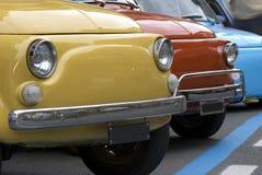 Mini carros italianos coloridos Imagem de Stock