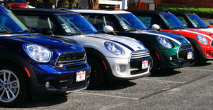 Mini Cars Royalty Free Stock Photography