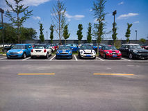 Mini cars for sale Royalty Free Stock Images